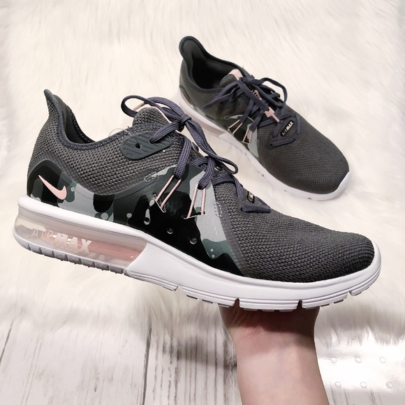 New Nike Air Max Sequent 3 Grey Pink